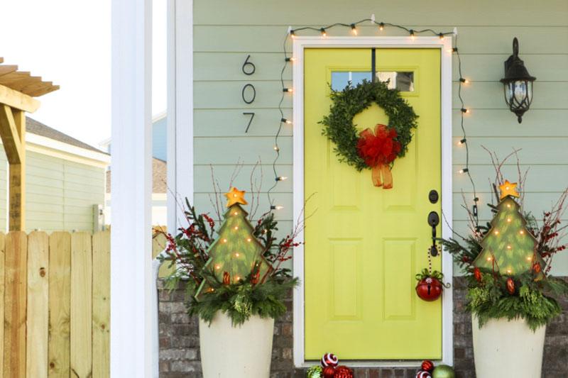 Holiday Decorated Door