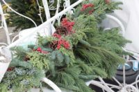 evergreen-mantlepiece